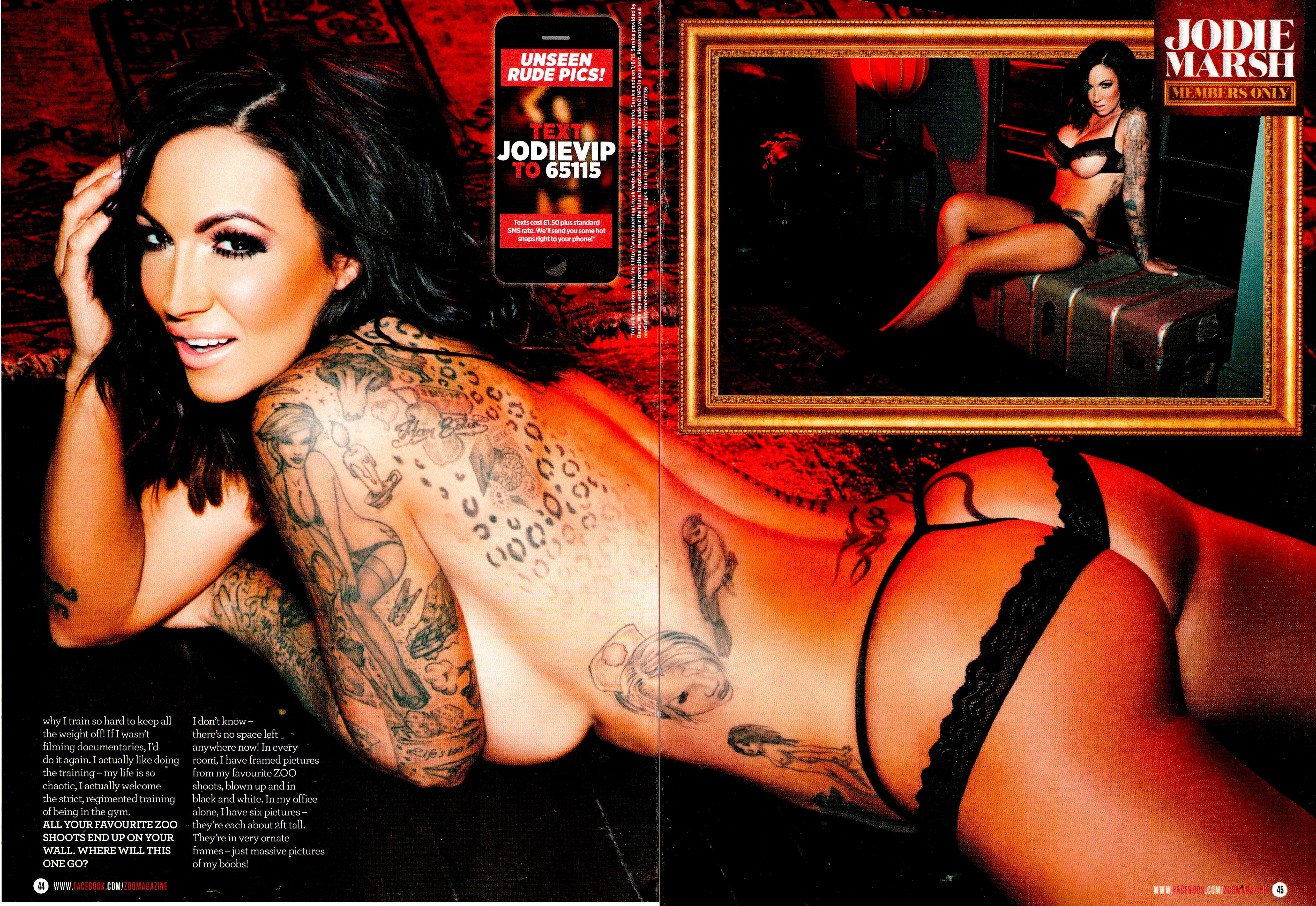 Jodie Marsh Topless In The Pool For Zoo Magazine